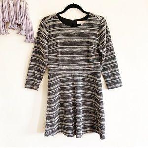 Loft • tweed knit sweatshirt dress size 4 midi